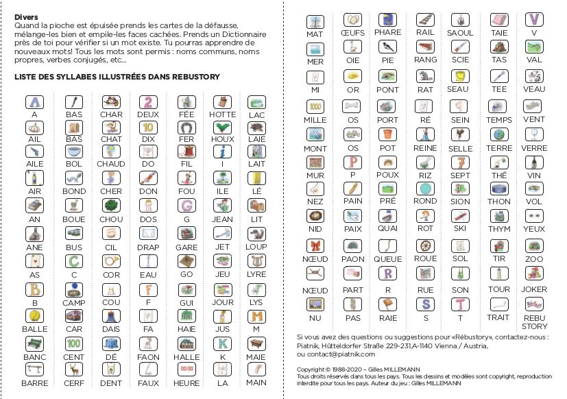 règles du jeu rébustory 2020 p7-8