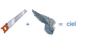 le rébus scie + aile = ciel