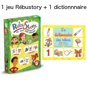 1 jeu rébustory + 1 dictionnaire des rébus